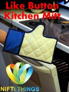 Facebook Like Button Oven Mitt